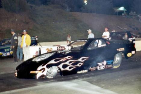 Glenn Whitehead was runner up in Alcohol Funny Car. Photo by David Hapgood
