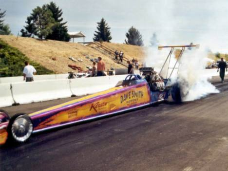 Mike Cofini shattered the track record in Alcohol Dragster. Photo by David Hapgood