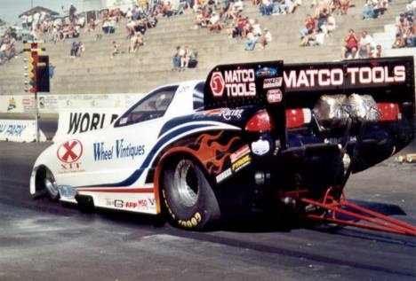 Nitro Funny Car runner up, Terry Haddock. Photo by David Hapgood